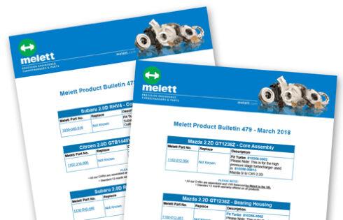 New Melett turbocharger parts